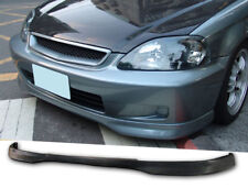 TR Urethane Front Bumper Lip Spoiler Body kit For 99-00 Honda Civic 2 3 4 Dr