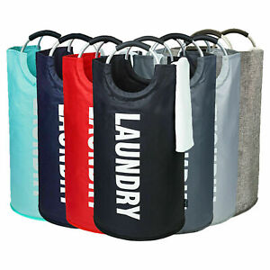 🔥 New Collapsible Fabric Laundry Hamper Foldable Clothes Bag Washing Bin Basket
