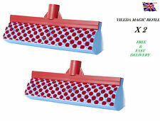 Pack of 2 Vileda New Magic Mop Sponge Refill Heads Tackles Stubborn Dirt Kitchen