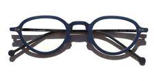 New Vtg 1996 L.A. Eyeworks Eyeglasses Retro - Blue Sage 341M Glasses NOS