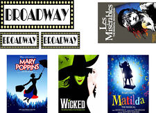 Broadway Musical Theatre Posters Theme Edible ICING Sheets