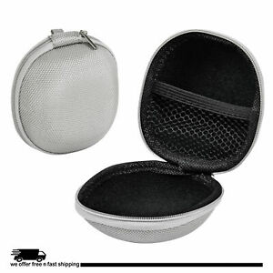 """Bluetooth Storage Case Portable Protective Carry Bag for Earbuds Cable 2"""" Gray"""