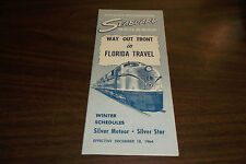 DECEMBER 1964 SAL SEABOARD AIR LINE RAILROAD WAY OUT IN FRONT PUBLIC TIMETABLE