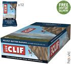Clif Bar Plant Based Energy Bar | 12 x 68g Bars Peanut Butter Banana