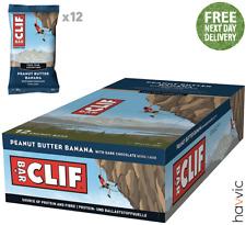 Clif Bar Plant Based Energy Bar   12 x 68g Bars Peanut Butter Banana