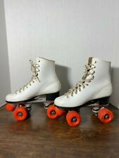 Vintage Roller Derby White Leather Size 6 Woman's Skates Stock Number 965