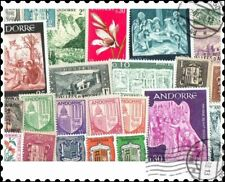 French Andorra : 25 Different Stamps Collection