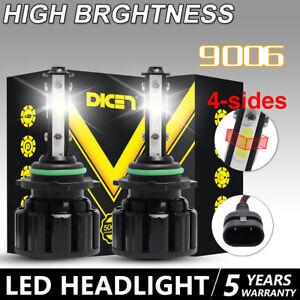 Pair 9006 COB LED Headlight Bulbs 6000K White 32000LM Kit Low Beam or Fog Light