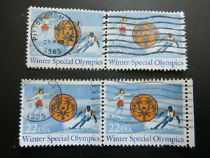 Winter Special Olympics, Emblem- 22c  1985- used stamps