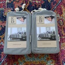 Ellen Degeneres European Shams Set Of 2 Gray