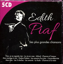 EDITH PIAF - SES PLUS GRANDES CHANSONS - BEST OF 5 CD ALBUM NEUF ET SOUS CELLO