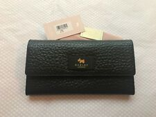 Radley Black Textured Leather Travel Wallet & Dustbag 'Abbey'  New RRP £85