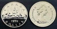 Canada 1978 Proof Like Gem Voyageur Nickel Dollar!!