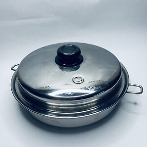 """Saladmaster 316ti 11"""" Skillet w/ Lid Titanium Surgical Stainless Steel Cookware"""