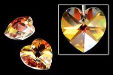 10.3mm x 10mm Swarovski 6202 Crystal AB Heart Drop (2 Pcs)