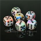 NEW Set of 6 Festive Circus D6 Dice Six Sided RPG D&D Game 16mm 5/8 inch Chessex