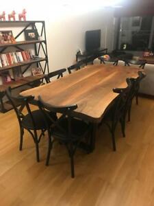 Live Edge Walnut Stylish Handmade Dining Table 5.5cm thick Solid wood