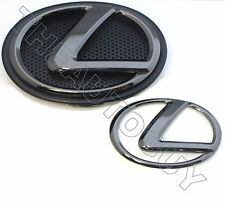 2013 2014 2015 2016 LEXUS GS350 BLACK PEARL PLATED FRONT AND REAR EMBLEM ONLY
