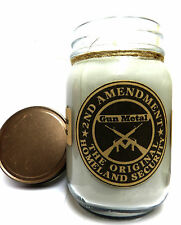 Gun Metal - 16oz Country Jar Soy Candle Wholesale Scented Candles