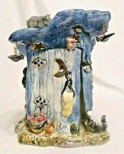 "2001 Whimsical Animals & Outhouse Tealight Holder, 7-1/2"", Kimberly Design, Mint"