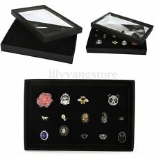 100 Slots Ring Show Box Ear Ring Holder Jewelry Display Storage Organizer Case