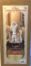 "Grandeur Noel Collector's Edition 16"" Sheepskin Beard Fabric Santa w/ box 1999"