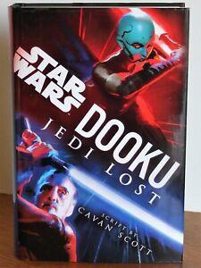 STARS WARS - DOOKU - JEDI LOST - CAVAN SCOTT - HARDCOVER BOOK - LIKE NEW