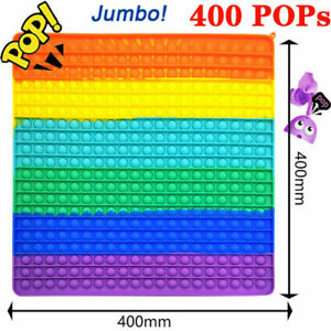 40x40cm Big Size Jumbo Bubble Popit Fidget Toys ADHD Stress Relief Hand Game Toy