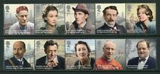 Great Britain Scott #3157a//3166a MNH STRIPS Famous People CV$18+ ISH-1