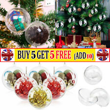 Christmas Tree Clear Balls Fillable Baubles DIY Fillable Sphere Wedding Ornament