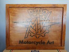 MV Agusta Motorcycle Art Custom Bike Crate Framed Wall Art Man Cave Garage