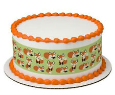 Fox Foxes cake strips image topper frosting sheet icing #20735
