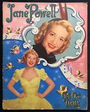 Original Jane Powell Paper Dolls, Mostly Uncut Whitman Set, 1951