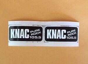 Pure Rock 105.5 KNAC Mini Stickers (2x Per Purchase) Metallica Iron Maiden NEW