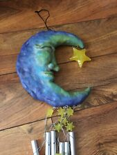 New listing Moon and Stars Wind Chime Celestial Home Garden Decor