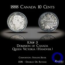 1888 Canada 10 Cents (Silver) - Sterling DDR (G-VG)