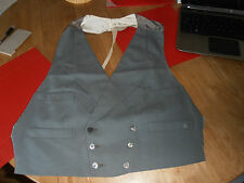 1920s Henry Southey of Worthing Bespoke Grey Double Breasted  Waistcoat sz38-40""