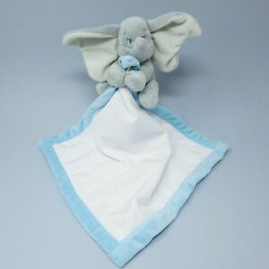 Disney Store Baby Dumbo blue white grey blankie comforter doudou soother