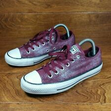 Converse Chuck Taylor All Star (Women's Size 7.5) Low Canvas Shoes Maroon White
