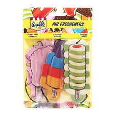 Walls Ice Cream 2D Hanging Car Air Freshener Scent Smell - Twister Starship Feet