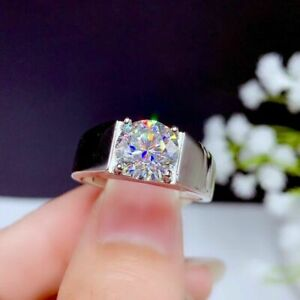 2Ct Round Cut VVS1/D Diamond  Pretty Engagement Ring 14K White Gold Finish