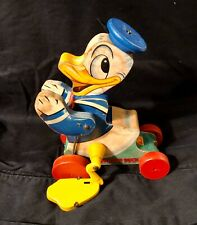 New ListingVintage Fisher Price Donald Duck Wooden Pull Toy 765 Walt Disney Productions