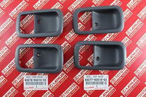 Toyota Land Cruiser Lexus LX450 OEM GRAY Inner Door Handle Bezel Front Rear SET