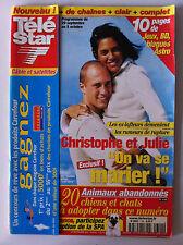 TELE STAR du 24/09/2001; Christophe et julie les lofteurs/ J. Depp/ Marc Lavoine