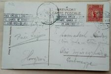 SWEDEN 1912 PICTURE POST CARD WITH OLYMPIC GAMES SLOGAN POSTMARK