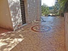 "Stone Decorative Polyurethane stamp for concrete ""Fan"", for tracks, floor"