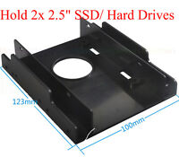 """3.5"""" to 2.5"""" SSD/Hard Drive Drive Bay Adapter Mounting Bracket Converter Tray"""