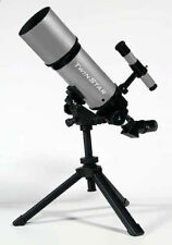 New Beginner Silver 80mm Refractor Telescope Bundle - Portable Edition