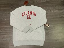 Mitchell & Ness NBA Atlanta Hawks Hardwood Classics Crew Neck Sweatshirt Mens XL