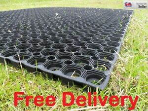 Rubber Grass Mat Horse Stable 1500mm x 1000mm FREE Fixings FREE Delivery